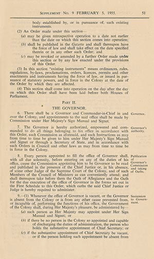 Singapore Colony Order in Council of 1955